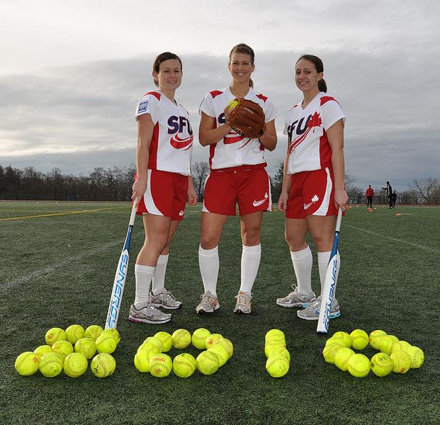SFU's_women's_softball_team_sports_Olympic_logo
